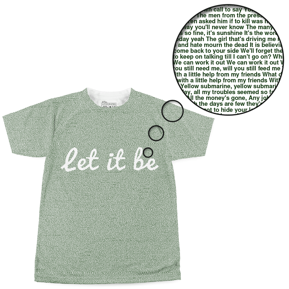 523fb6b3 Litographs | 100 Songs by The Beatles | Book T-Shirt