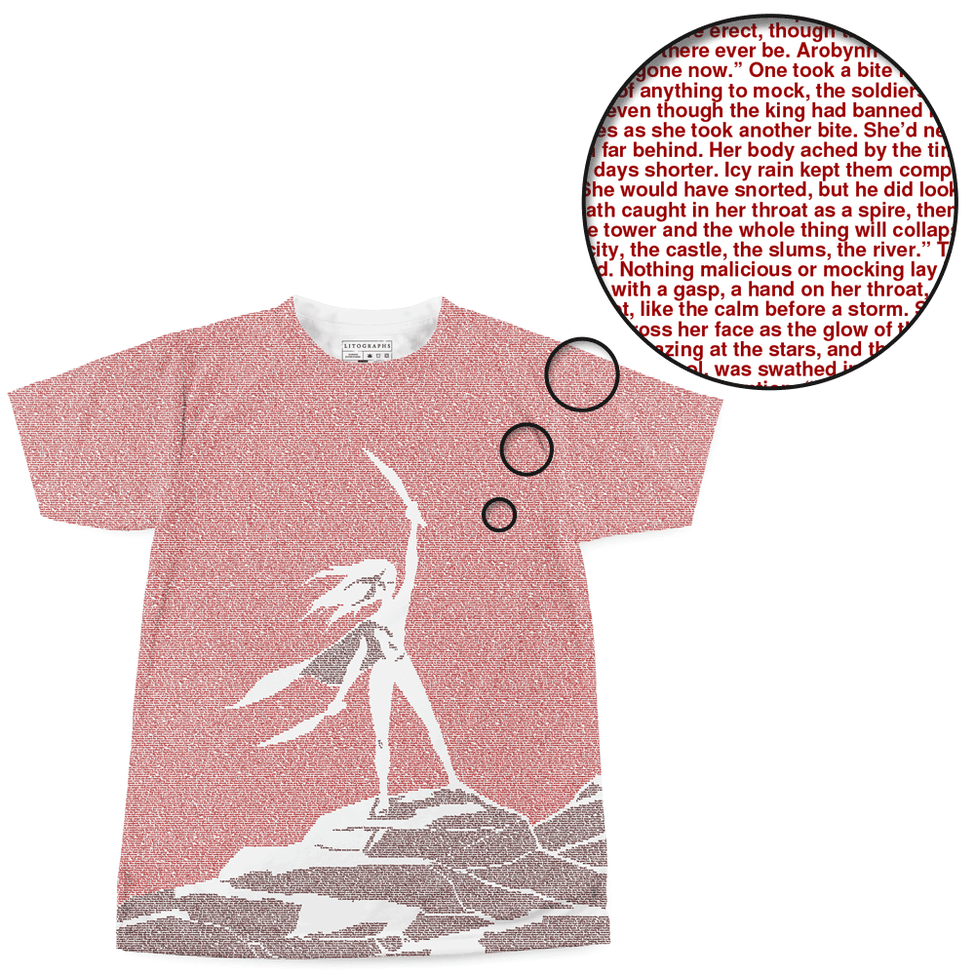 042c7e46b Litographs | Throne of Glass | Book T-Shirt
