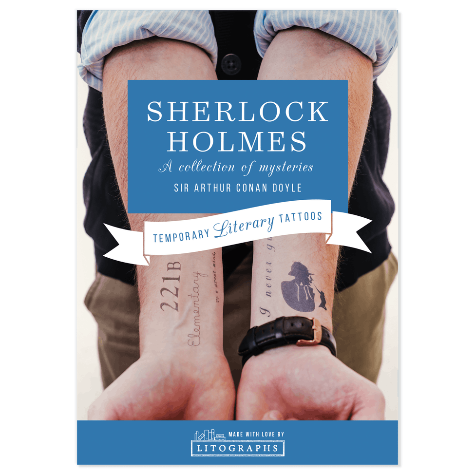 Litographs The Adventures Of Sherlock Holmes Book Tattoo