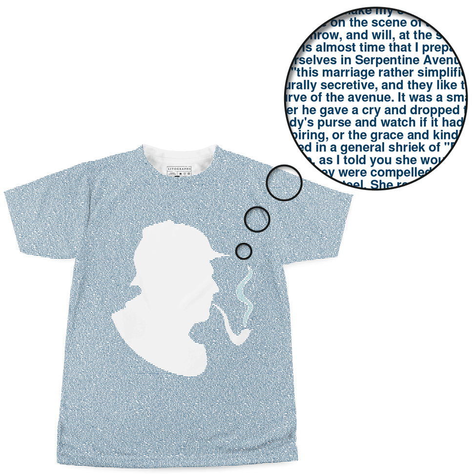 Litographs | The Adventures of Sherlock Holmes | Book T-Shirt