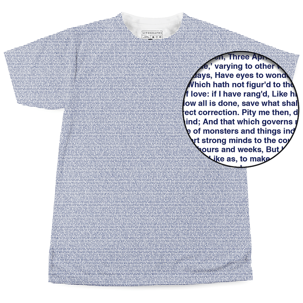 43c660f88 Litographs | Shakespeare's Sonnets | Book T-Shirt